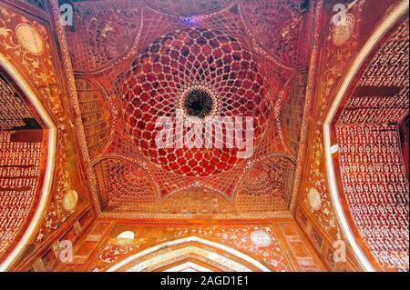Plafond de la mosquée, Taj Mahal, Agra, Uttar Pradesh, Inde, Banque D'Images