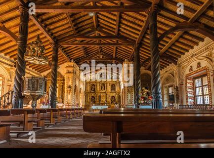 San Rafael de Velasco, Mission jésuite sur le Cicuit jésuite, Patrimoine mondial de l'UNESCO, basses-terres orientales, Bolivie, Amérique latine Banque D'Images