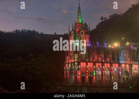 La magnifique basilique et sanctuaire de Las Lajas, Ipiales, Colombie