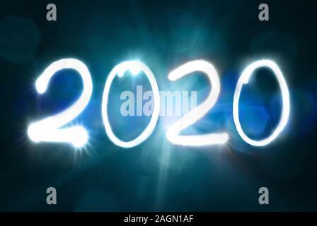 2020 Nouvel an l'exposition vingt deux mille