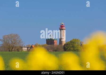 Ancien et nouveau phare à Cap Arkona / Kap Arkona, gager, péninsule de Wittow sur l'île de Rügen dans Mecklenburg-Vorpommern, Allemagne Banque D'Images