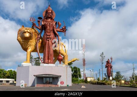 Temple Hindou de Grand Bassin, Ile Maurice Banque D'Images