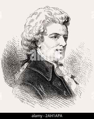 Wolfgang Amadeus Mozart, 1756 - 1791, le compositeur de la première école viennoise Banque D'Images