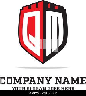 Q L'écran initial de dessins de logos, modèle, logo logo lettre inspirations Banque D'Images