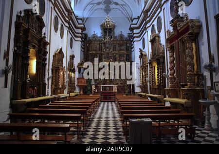 Intérieur de la Cathédrale Notre Dame de l'Incarnation / 'la Cathédrale' dans le centre-ville de Malaga Costa del Sol Andalousie Espagne