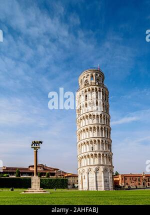 Tour de Pise, la Piazza dei Miracoli, Pisa, Toscane, Italie Banque D'Images