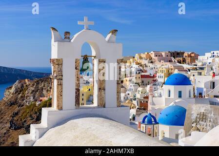 Clocher à Oia, Santorin, Grèce