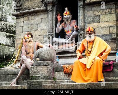 Varanasi, Inde,octobre,2019 dans sadhu Temple de Varanasi Banque D'Images