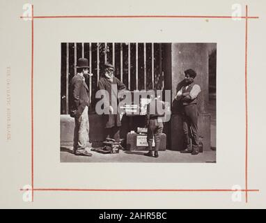 John Thomson. Le spectaculaire Shoe-Black. 1877. L'Écosse. Woodburytype, tiré de l'album Street Life in London Banque D'Images