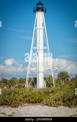 Gasparilla Island Lighthouse à Boca Grande. Boca Grande, en Floride, aux États-Unis. Banque D'Images