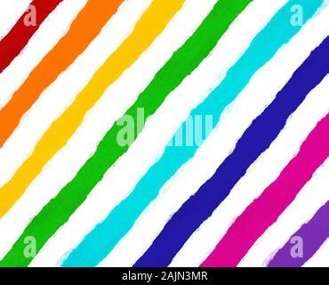 Des bandes de papier multi-coloré, toutes les couleurs de l'arc-en-ciel et blanc papier isolé avec bords déchirés entre eux. Possibilité de couper la bande de tout