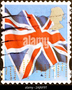 Drapeau britannique sur un timbre-poste