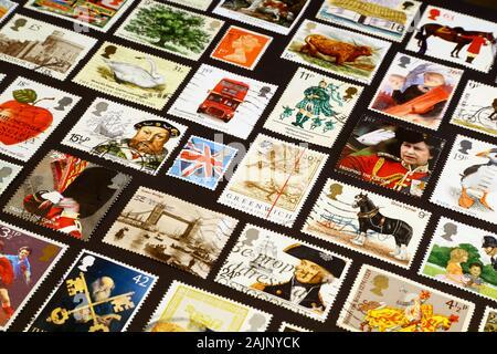 Symboles britanniques sur les timbres-poste