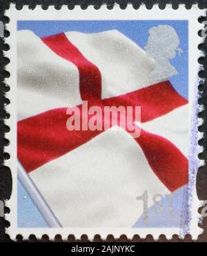 Drapeau anglais sur timbre-poste