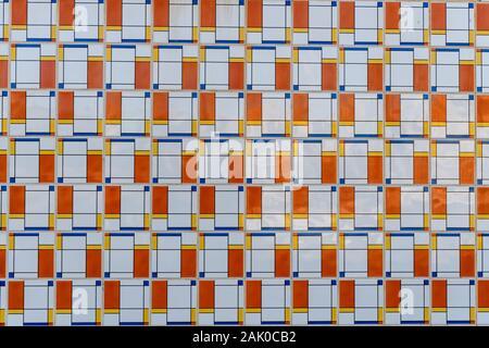Résumé motif carreaux de céramique close up