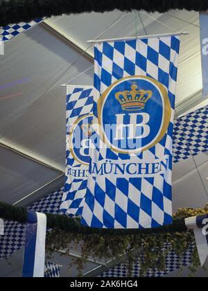 Munich, Allemagne - CIRCA Octobre 2019: Hofbraeu beer sign