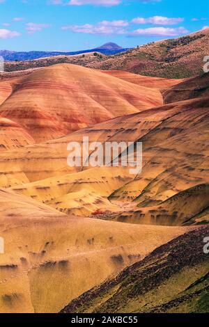 Paysage avec des collines en désert, John Day Fossil jumeaux, peint Hills, Oregon, USA