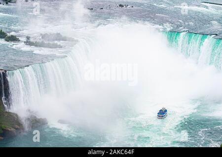 Le Canada, la province de l'Ontario, Niagara Falls, les chutes canadiennes, American Tour Voile Maid of the Mist Banque D'Images