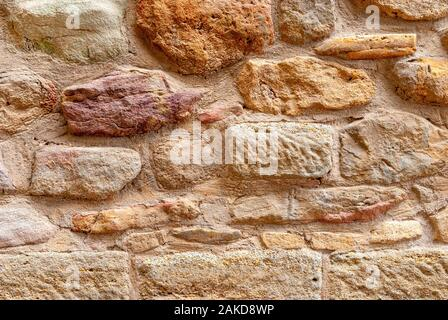 Les murs anciens et pose de vieilles pierres. Texture background pour la conception. Banque D'Images