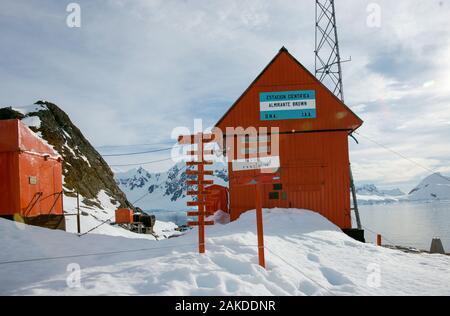Estación Científica Almirante Brown Almirante Brown - Station - l'Antarctique. Banque D'Images