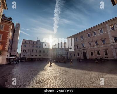 La place Piazza Santa Maria in Trastevere Rome, Italie Banque D'Images