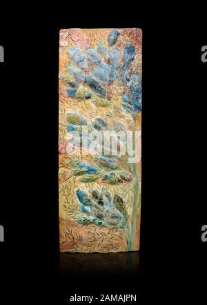 Minoan fresque d'art floral de mur du Palais Knossos, 1600-1300 av. J.-C. Musée Archéologique D'Héraklion. Banque D'Images