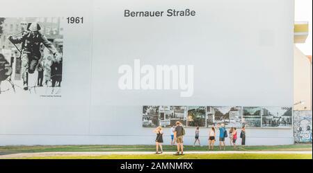 Mémorial du mur de Berlin, Berliner mauer gedenkstaette Banque D'Images