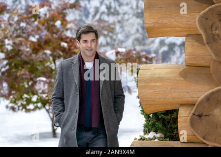 JORDAN BRIDGES, NOËL À HOLLY LODGE, 2017 Banque D'Images