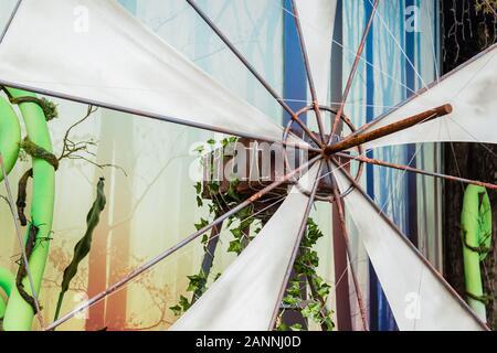 Rusty style vintage moulin display set vue rapprochée Banque D'Images