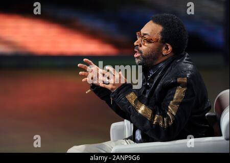 """Italie Milan 04/10/2008 Spike Lee , invité de la transmission """"Che tempo che fa' dans le rai studios. Banque D'Images"""