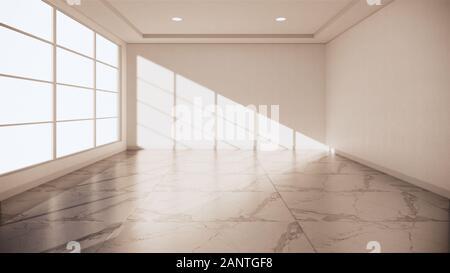 Sol en granit prix intérieur - salle vide de pierre naturelle Marbre Granit.3D Rendering Banque D'Images