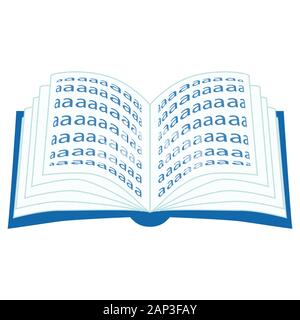 Couverts bleu livre ouvert avec les pages d'un battement Banque D'Images