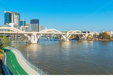 Horizon De Central Business District (Cbd) Et Brisbane River, Brisbane, Queensland, Australie Banque D'Images