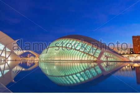 Cité des Arts et des Sciences, Valence, Communauté autonome de Valence, Espagne, Europe Banque D'Images