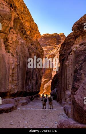 À l'entrée de Sik Canyon Banque D'Images