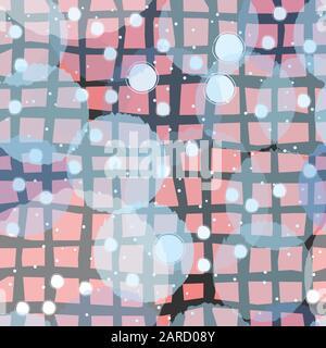 Modèle sans couture avec drôle de subtiles boules transparentes sur fond beige. Magnifique décor. Vector Illustration Banque D'Images