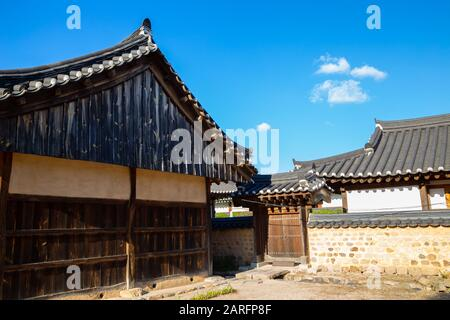 Gyochon Village Hanok maison traditionnelle coréenne à Gyeongju, Corée Banque D'Images