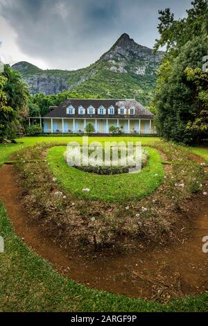 Jardins Ornementaux De La Maison Coloniale Créole Eureka La Maison, Montagne Ory, Moka, Maurice, Océan Indien, Afrique