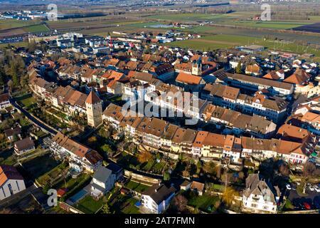 Vieille ville historique d'Avenches, canton de Vaud, Suisse Banque D'Images