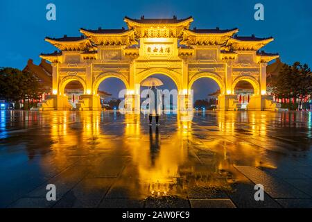 Chiang Kai Shek Memorial Hall À Taipei City, Taïwan Banque D'Images