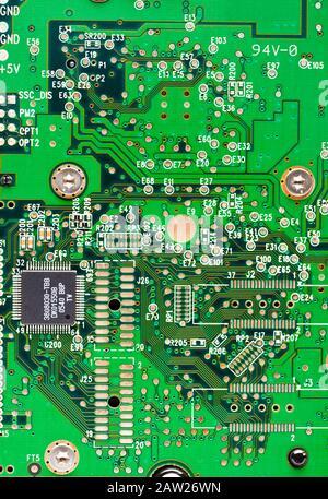 Technologie, carte de circuit imprimé, (PCB) et puces d'ordinateur