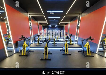 Aérobic spinning vélos d'intérieur salle de gym