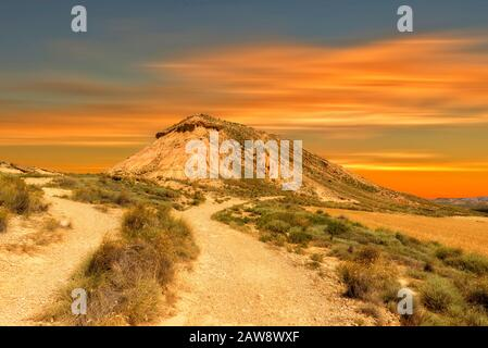 Le désert des bardenas reales à navarre, en Espagne