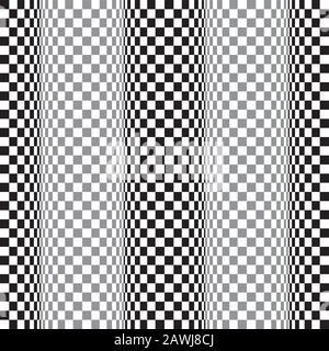 Arrière-plan transparent de distorsion de mouvement d'onde d'onde d'art op. Illustration Vectorielle. Banque D'Images