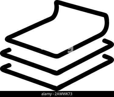 Vecteur d'icône de tissu de soie. Illustration du symbole de contour isolé Banque D'Images