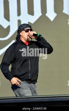 B-Real de Cypress Hill sur scène au Bottlerock Music Festival À Napa, en Californie.