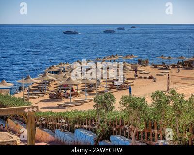 Sharm el-Sheikh beach resort de Sinaï, Égypte Banque D'Images