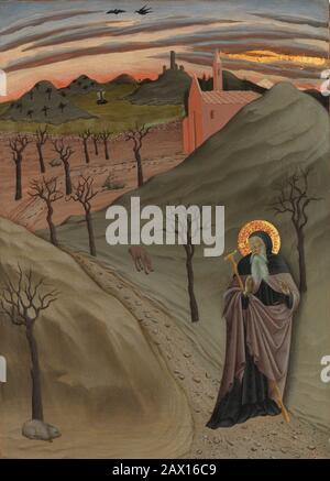 Saint Anthony l'Abbé dans la nature sauvage, CA. 1435. Banque D'Images