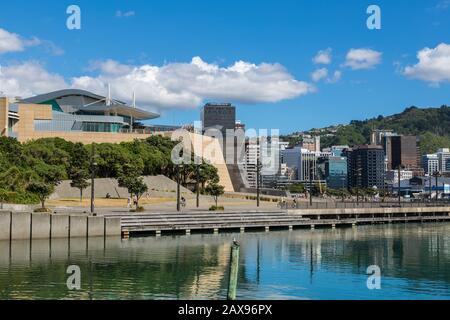 Ville de Wellington et du musée Te Papa, Nouvelle-Zélande Banque D'Images