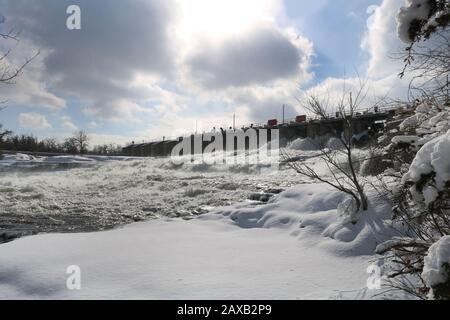 Chutes Heally en hiver Banque D'Images